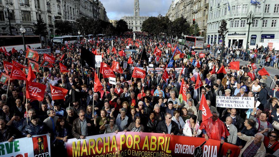 Gegen den Sparkurs: Zehntausende demonstrieren in Portugal und Italien