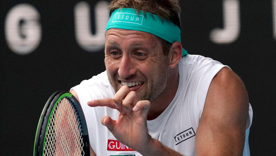 US-Profi Sandgren im Vorjahr bei den Australian Open