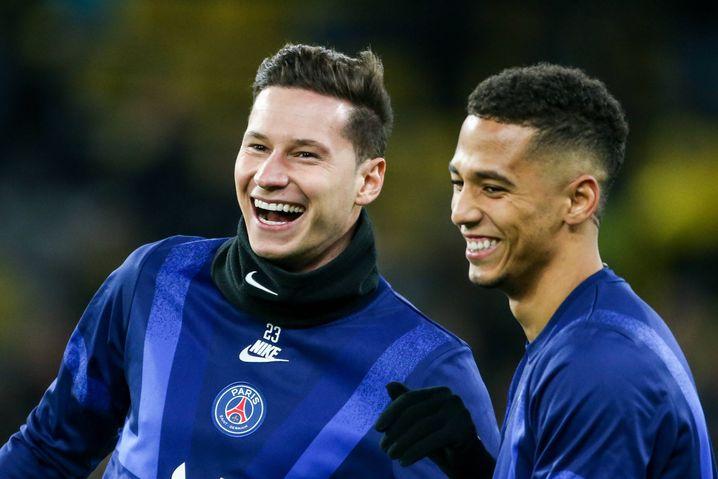 Pariser Teamkollegen: Kehrer wurde wie Draxler (links) einst in der Schalker Knappenschmiede ausgebildet
