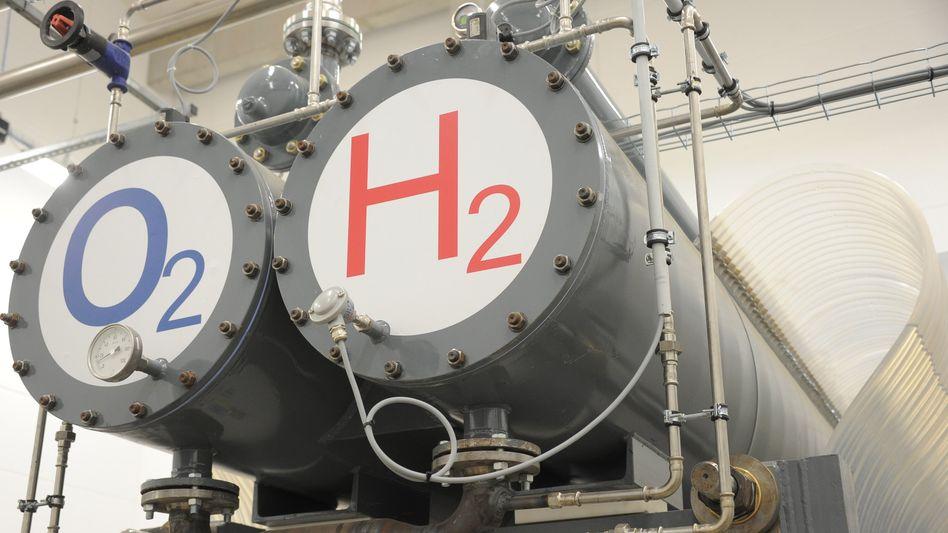 Ein Elektrolyseur im Wasserstoff-Hybridkraftwerk in Wittenhofe am Stadtrand von Prenzlau: Wasserstoff ist jetzt Chefsache in der Europäischen Union.