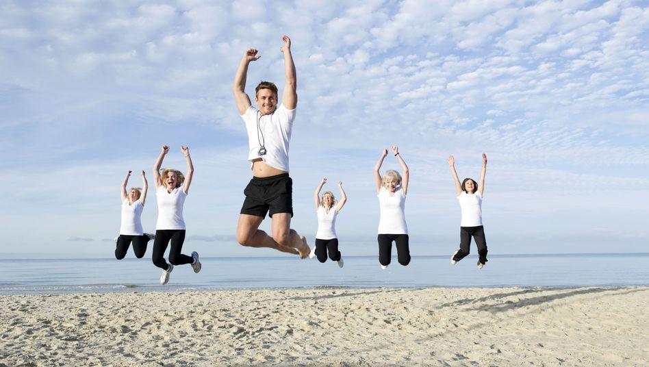 Jump, jump: In die Luft springen und dann wieder Liegestütze - so geht's