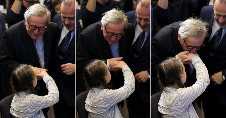 Jean-Claude Juncker, Greta Thunberg