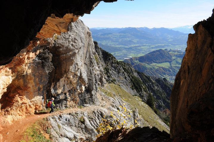 Thomas-Eder-Steig: Hoch mit der Bahn, runter ist Trittsicherheit nötig