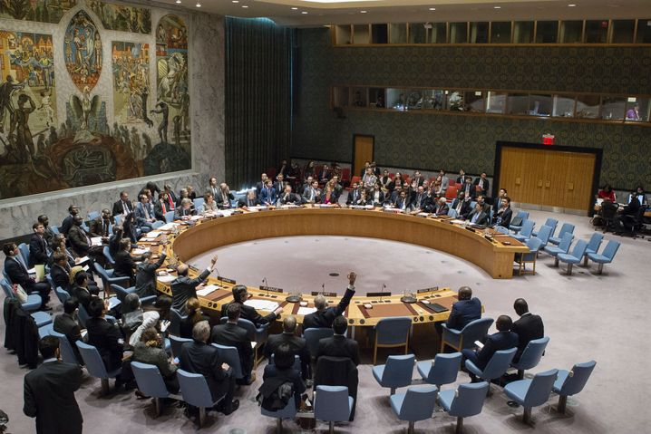 Sitzung des Uno-Sicherheitsrats im Dezember 2016
