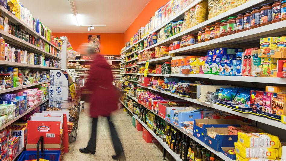 Supermarkt-Regale