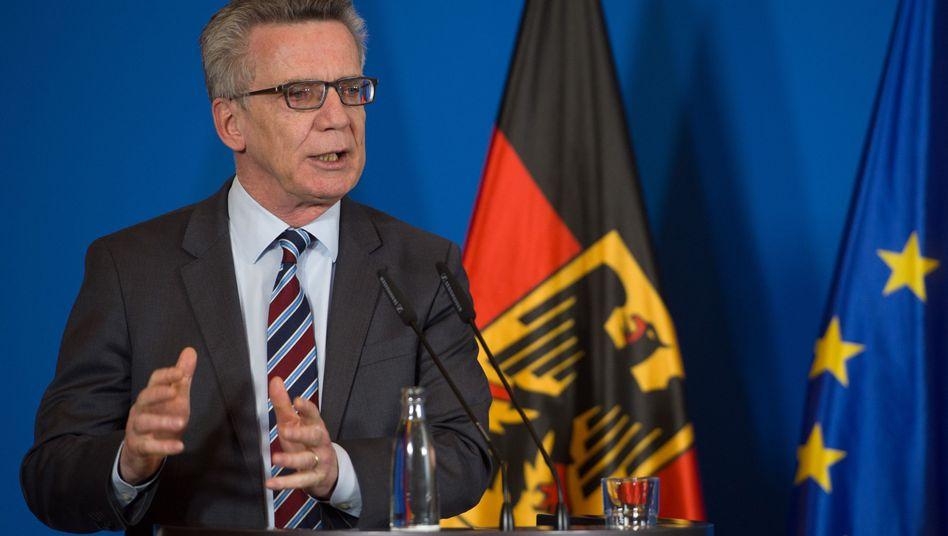 Bundesinnenminister Thomas de Maiziere (Archiv)