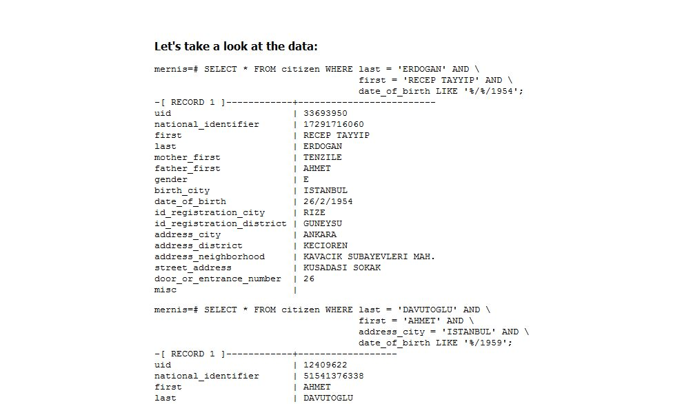 NUR ALS ZITAT Screenshot Turk Database