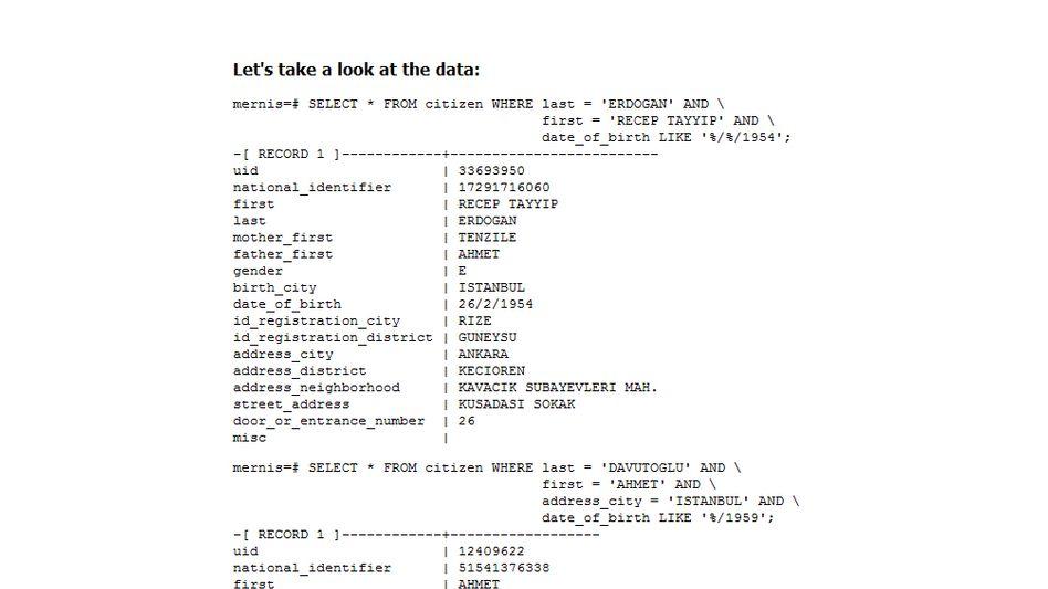 Ein Beispiel aus dem veröffentlichten Datensatz