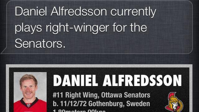 Apple-Panne: Daniel Alfredsson ist Gott