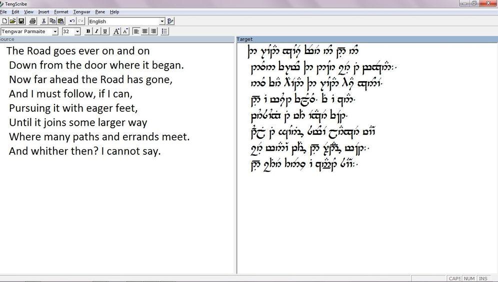 Tolkien-Schriftarten: So sehen Mittelerde-Schriftarten aus