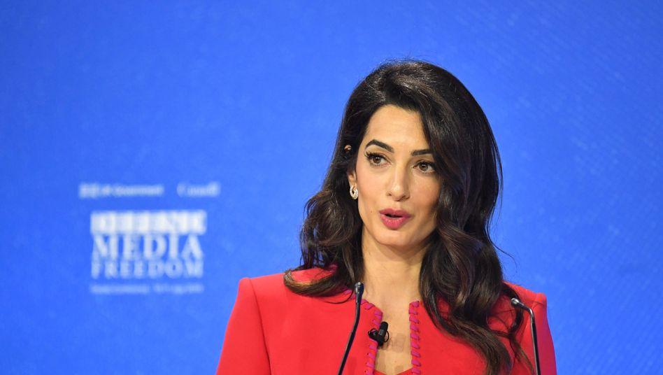 Amal Clooney auf der globalen Konferenz für Pressefreiheit 2019