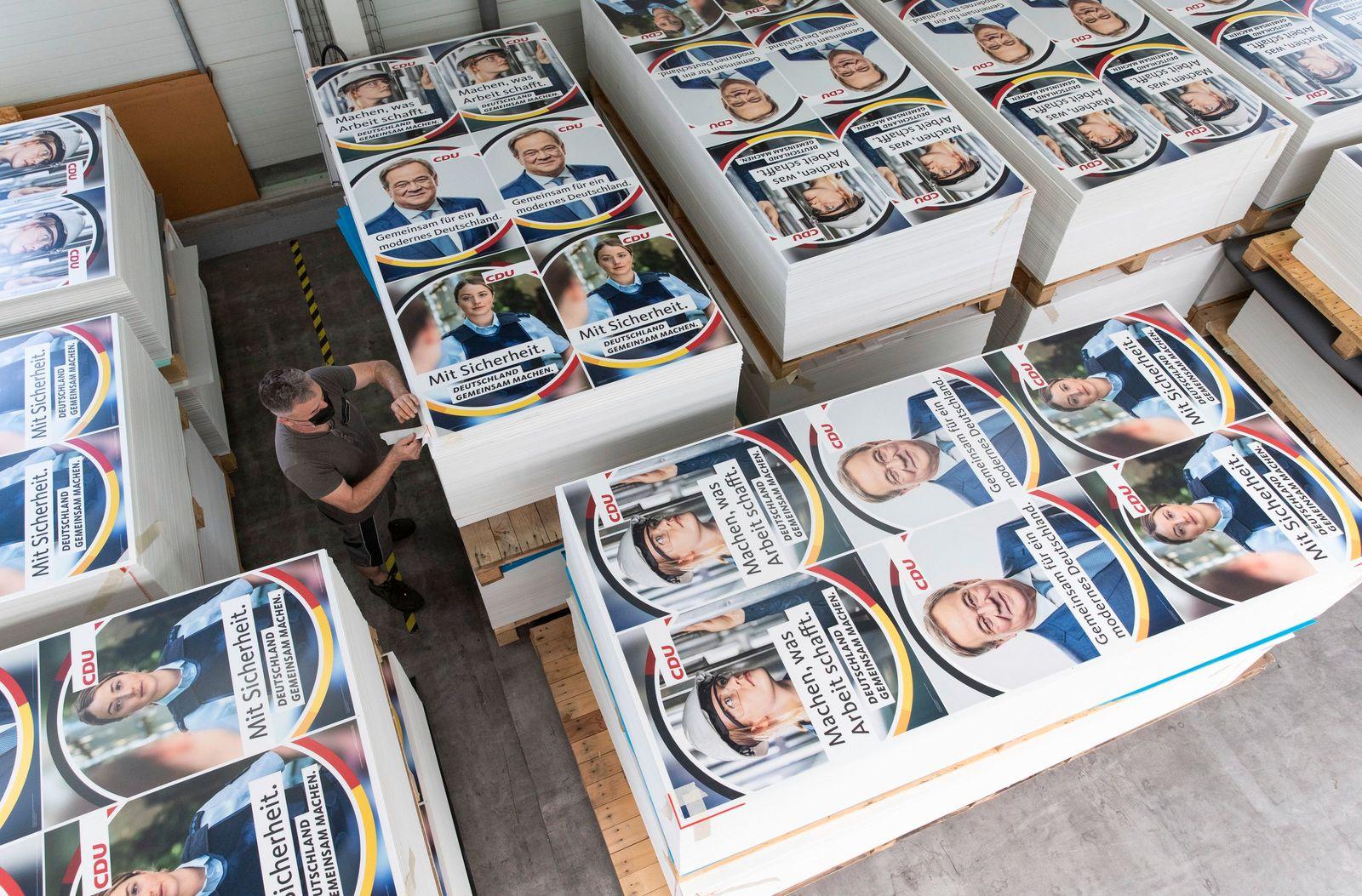 Bundestagswahl - Wahlplakate CDU