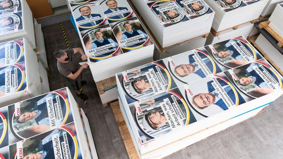 CDU-Werbeplakate zur Bundestagswahl: Welches Thema zieht wo?