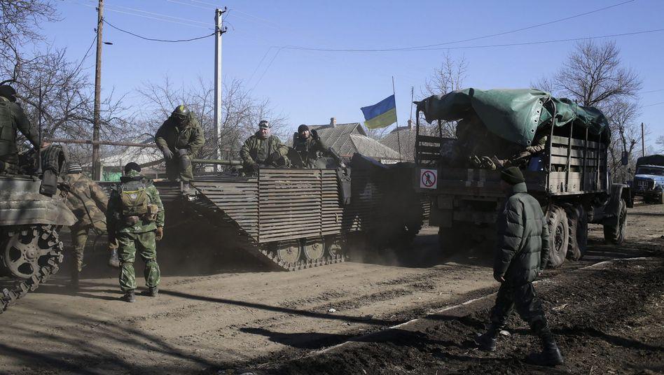 Ukrainische Soldaten bei Luhansk: In der Nähe seien die Russen geschnappt worden