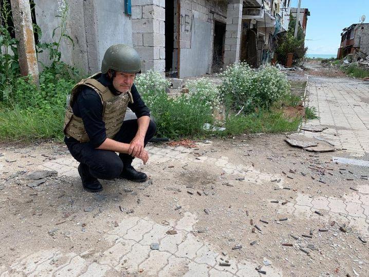 Grünenchef Robert Habeck bei seinem Besuch in der Ukraine