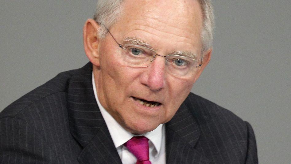 Finanzminister Schäuble: Sieht Hebel-Regelung positiv