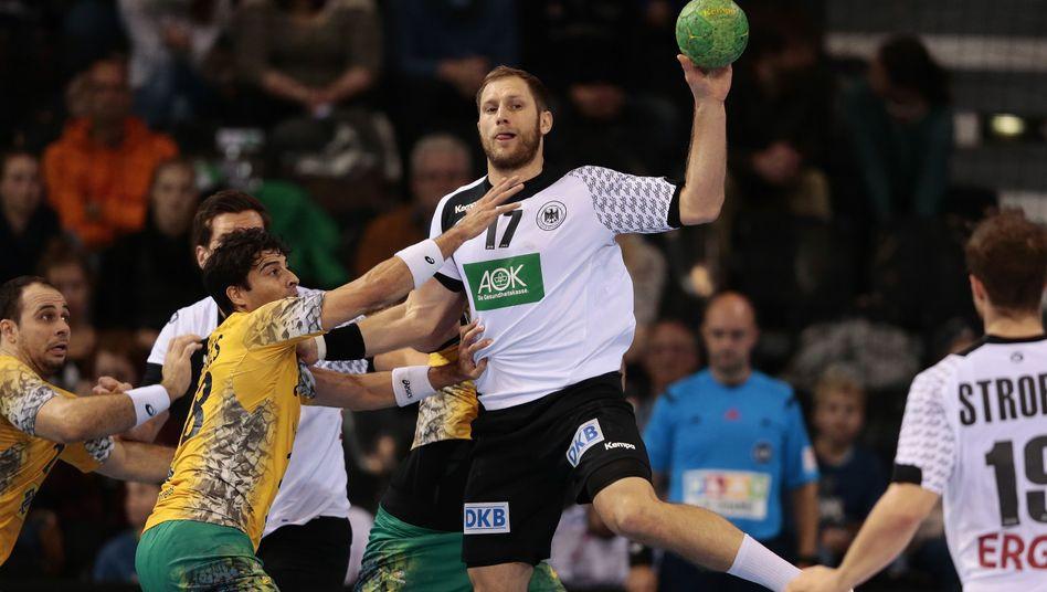 Deutsche Handballer: Lockerer Auftakt gegen Brasilien