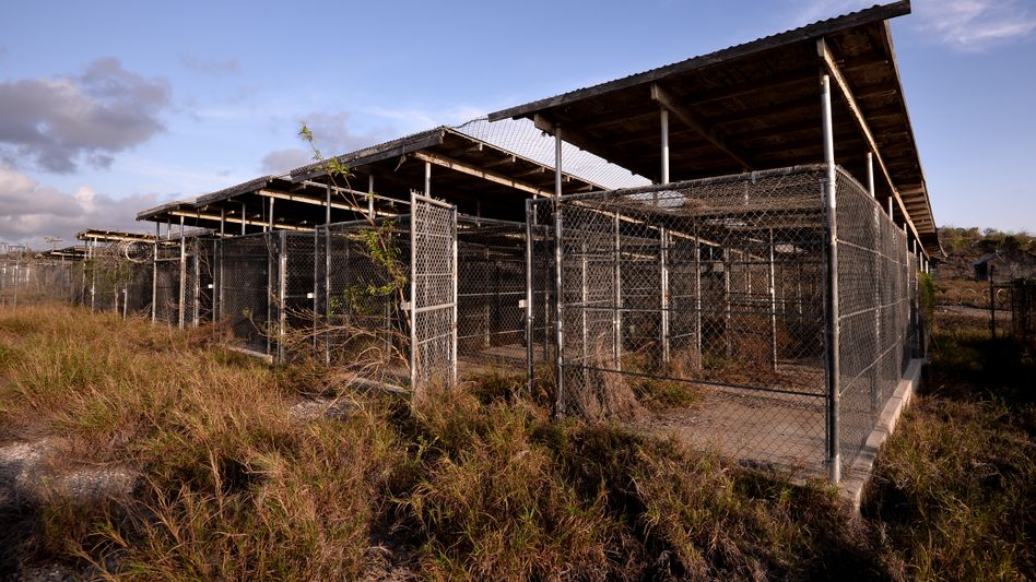 """The notorious """"Camp X-Ray"""" has been abandoned, but the US prison facility at Guantanamo for suspected terrorists is still in operation."""