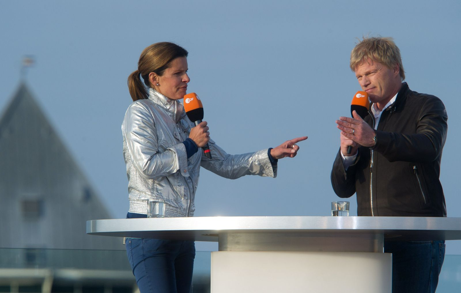 ZDF-Studio/ Katrin Müller-Hohenstein/ Oliver Kahn