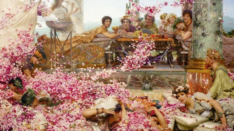 Despot Elagabal (l.) beim Bankett(*)