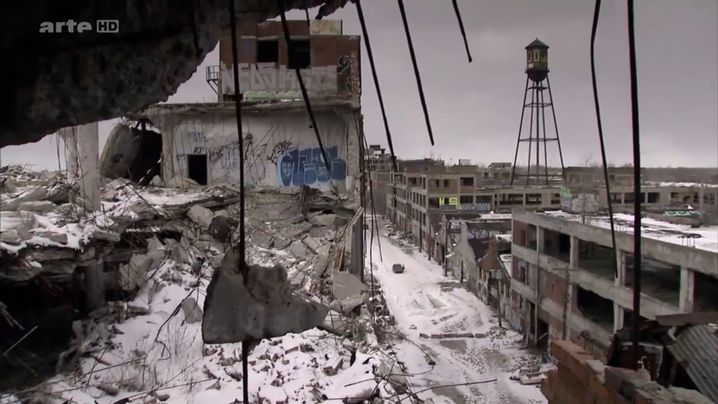Schnee, Stahl und Beton: Bilder aus Detroit