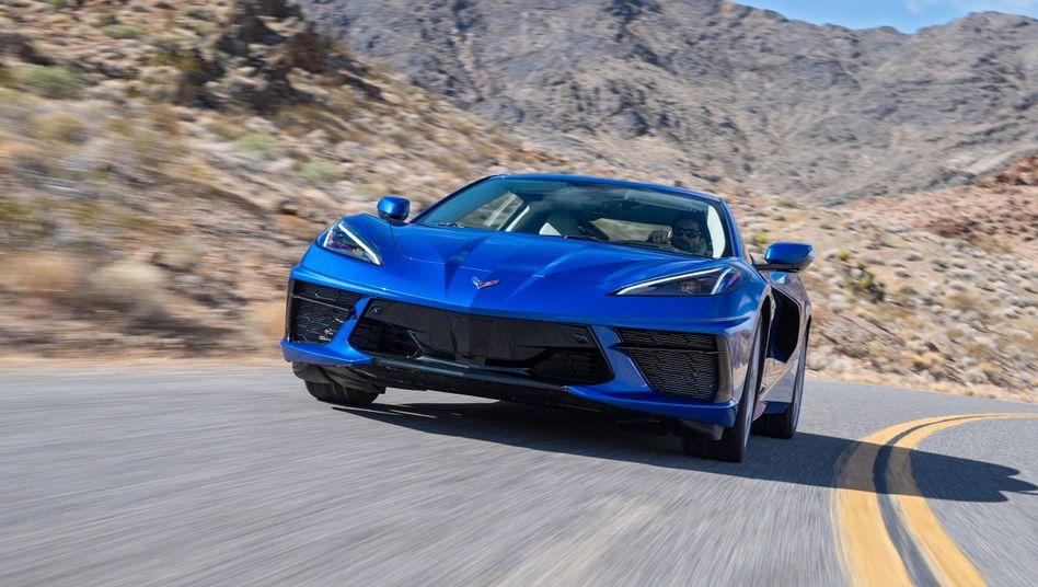 Chevrolet Corvette C8 Mit Mittelmotor Konzept Gegen Ferrari Und Co Der Spiegel
