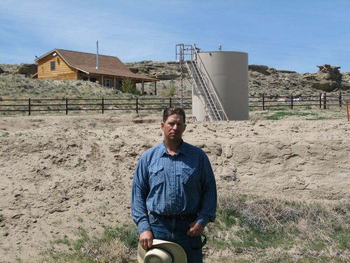 Farmer in der Nähe von Pavillion, US-Bundesstaat Wyoming
