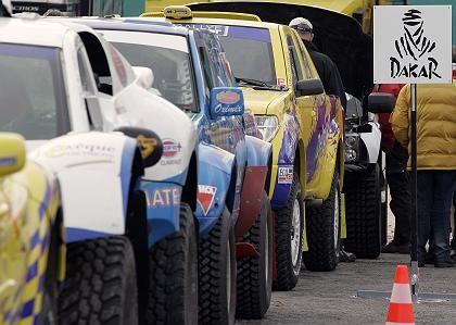 Dakar-Autos in Lissabon: Absage einen Tag vor dem Start