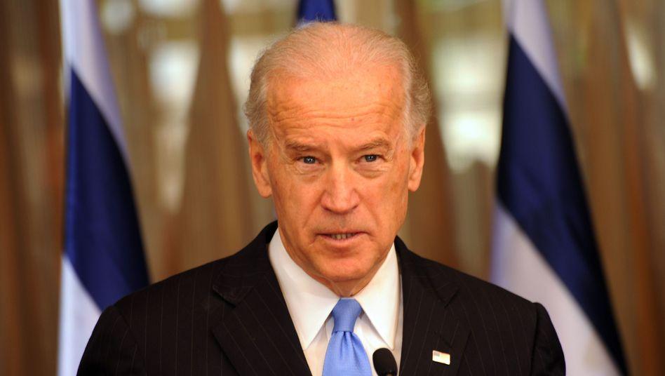 """US-Vizepräsident Biden: """"Eine Atmosphäre schaffen, die Verhandlungen unterstützt"""""""