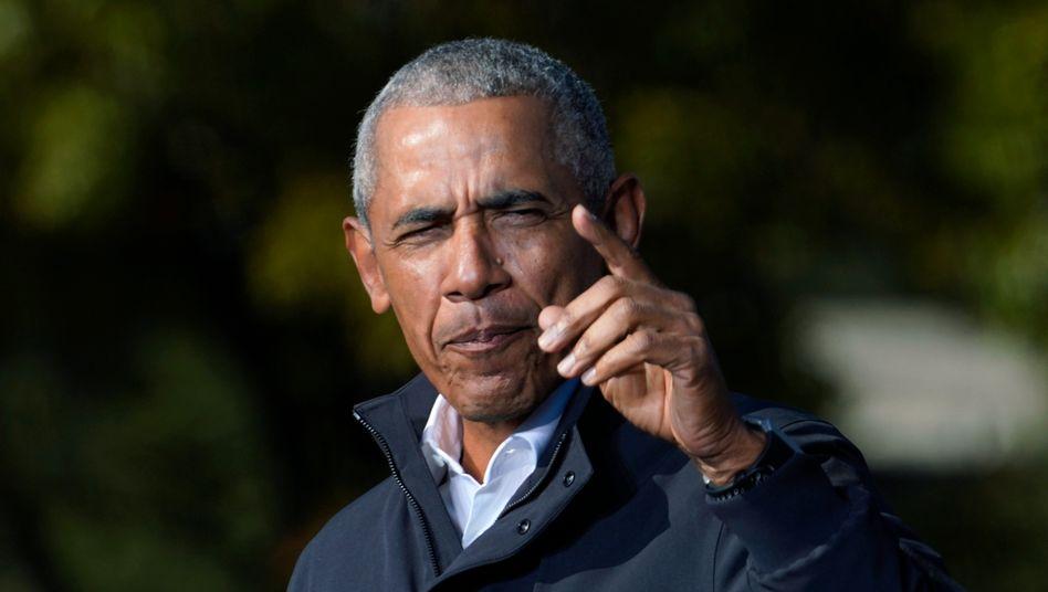 Barack Obama bei einer Rede im vergangenen Wahlkampf der Demokraten