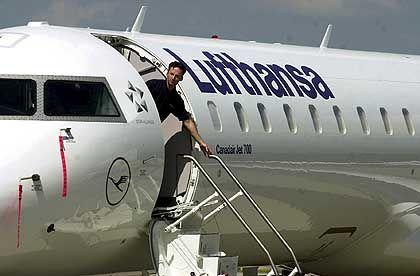 Flugausfälle befürchtet: Cityline-Maschine der Lufthansa
