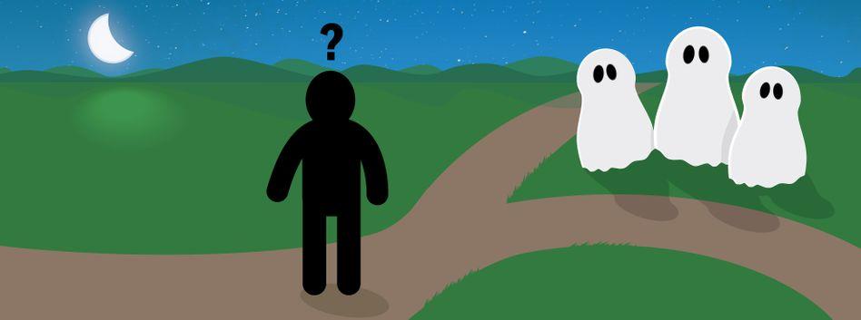 Rätselhafte Gespenster: Was soll der Wanderer fragen?