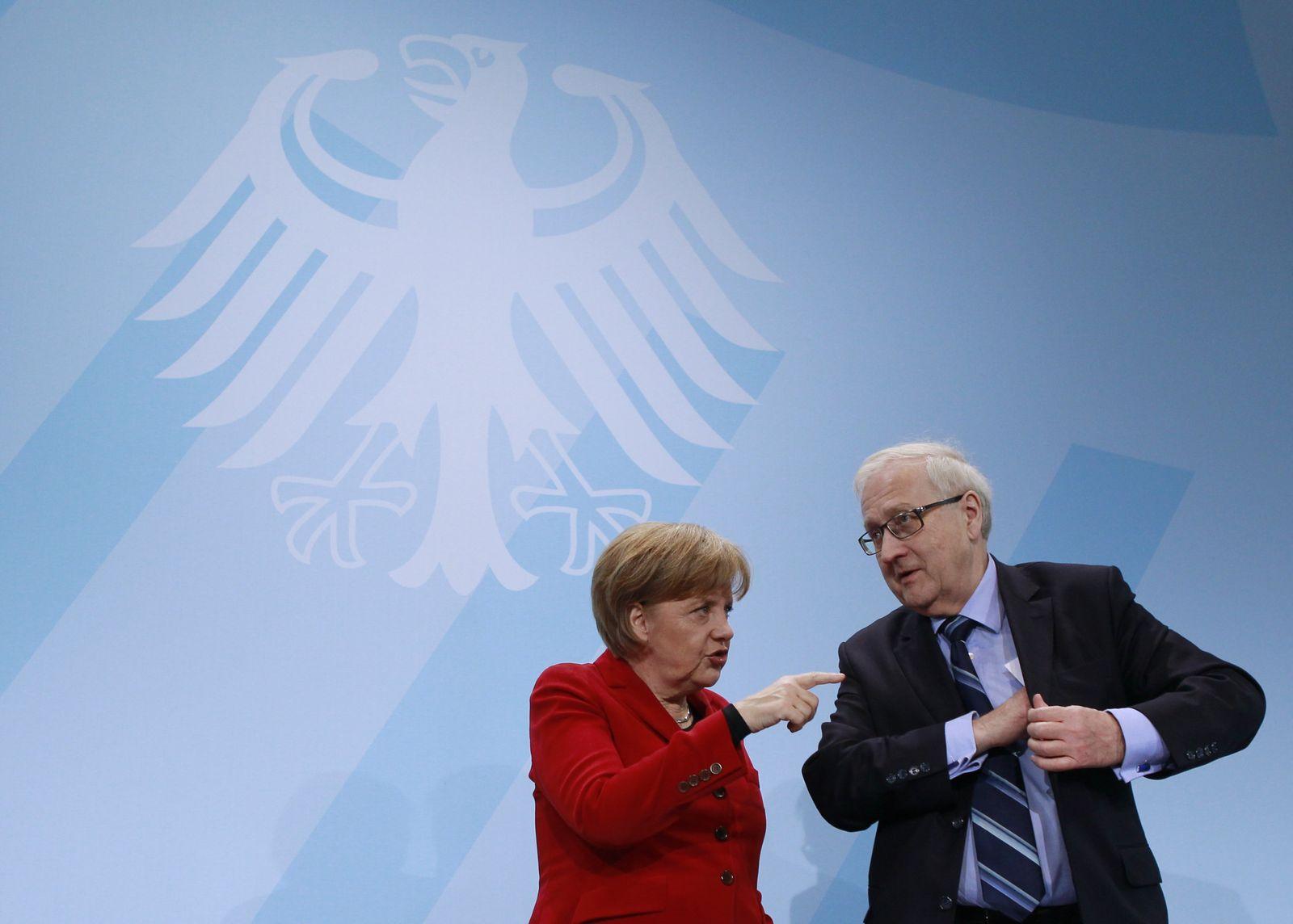 Brüderle / Merkel
