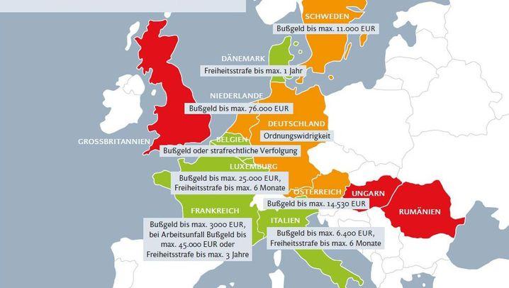 Fehlender Schutz vor Psycho-Stress: Wie die EU-Länder Arbeitgeber bestrafen