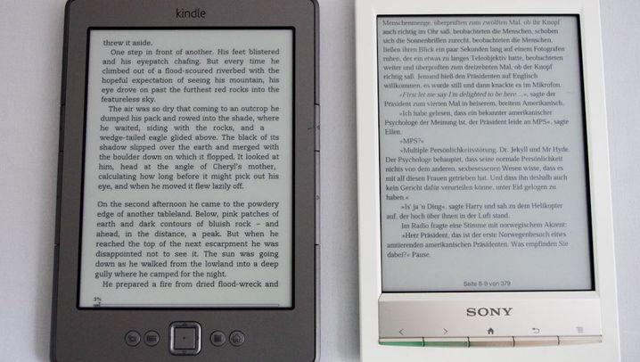 99-Euro-Kindle vs. PRS-T1: Digitale Lesegeräte von Sony und Amazon
