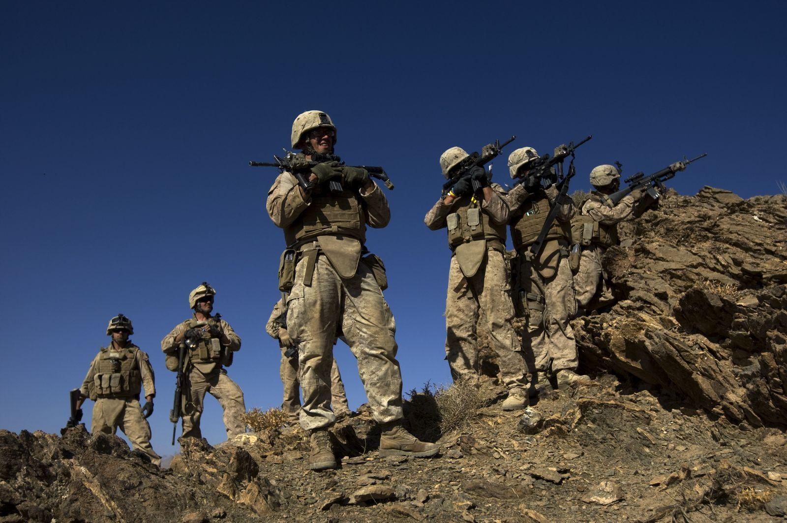 US-Marines Truppen Afghanistan Soldaten
