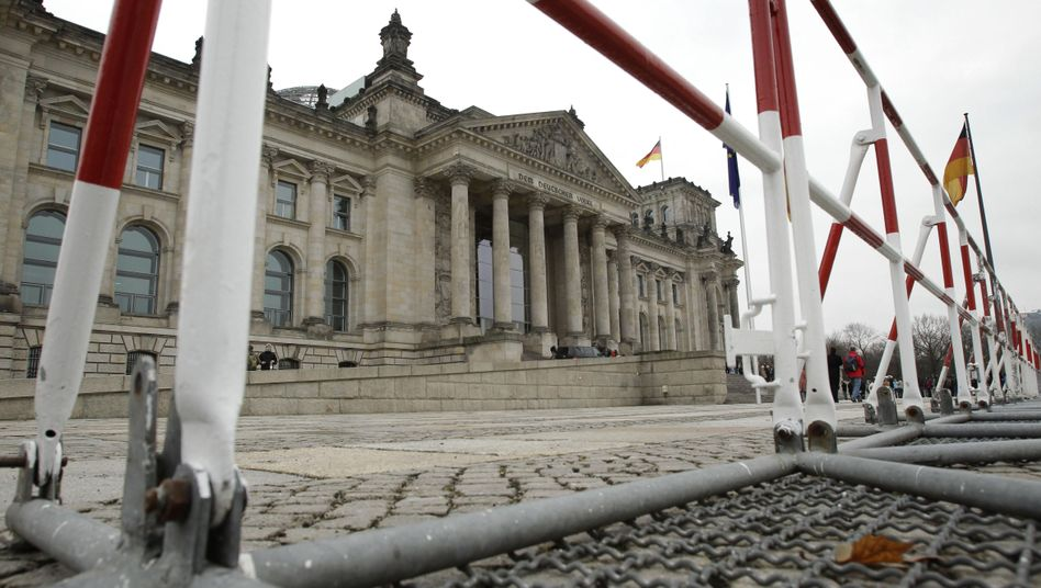 Officials erected crowd barriers in front of the Reichstag building this week after the German interior minister put the country on alert for terrorism on Wednesday.