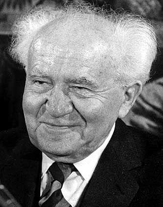 Israels erster Ministerpräsident David Ben-Gurion