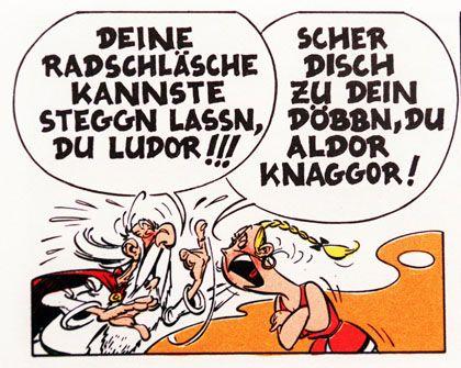 """""""Asterix"""" auf Sächsisch: Schimpfen geht trotzdem am Besten im Dialekt"""