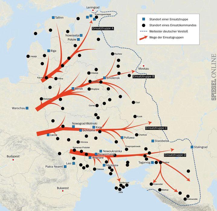 Spur des Todes: Die Wege der deutschen Einsatzgruppen in der Sowjetunion