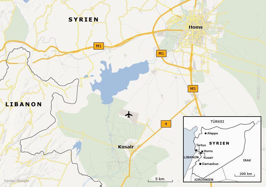 Karte Kusair Syrien