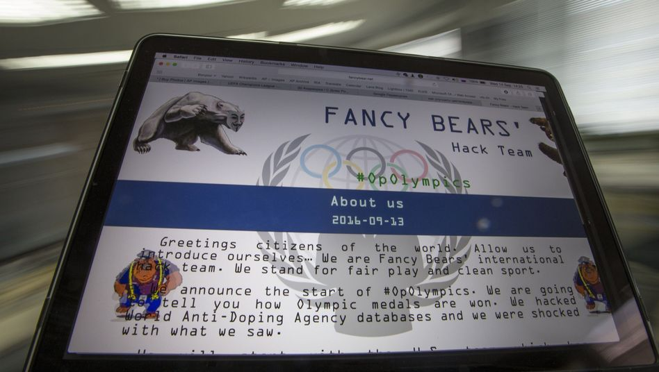 "Die Website der Hackergruppe ""Fancy Bears"""