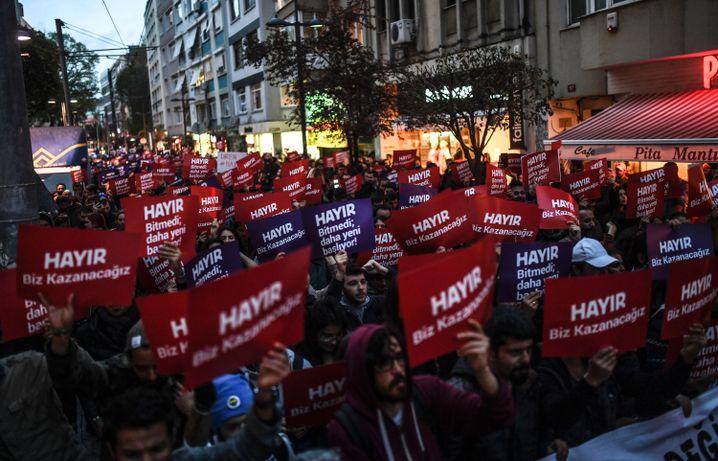 Proteste im Istanbuler Stadtteil Kadiköy
