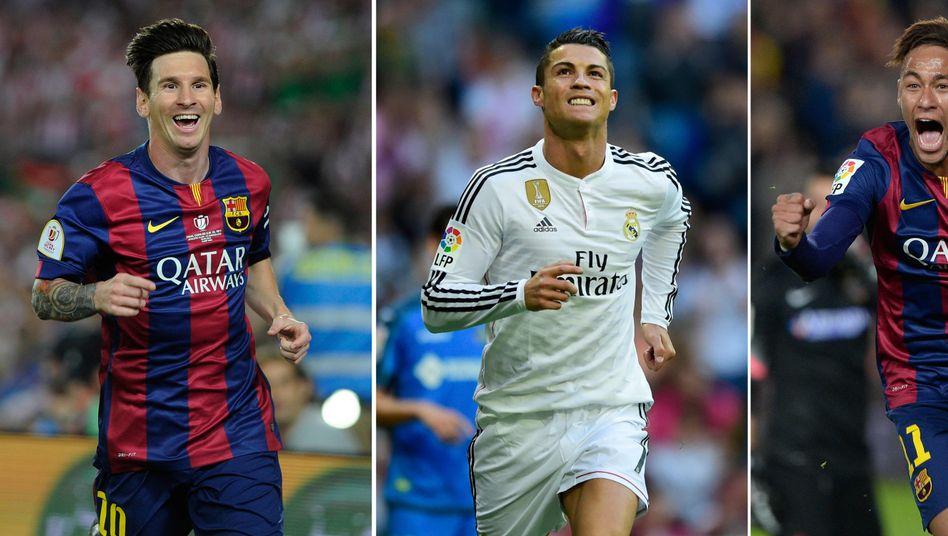 Messi, Ronaldo: Top-Kandidaten bei der Weltfußballerwahl