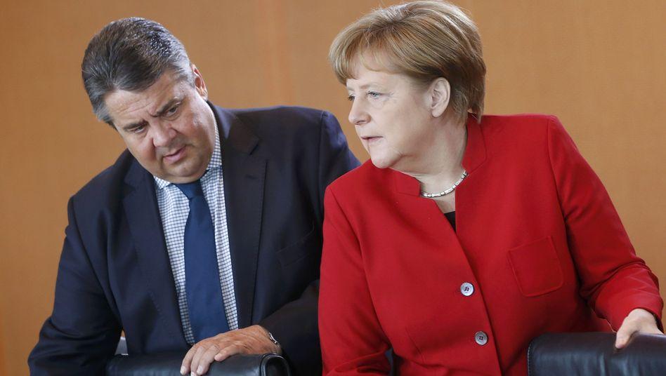Vize Gabriel, Kanzlerin Merkel