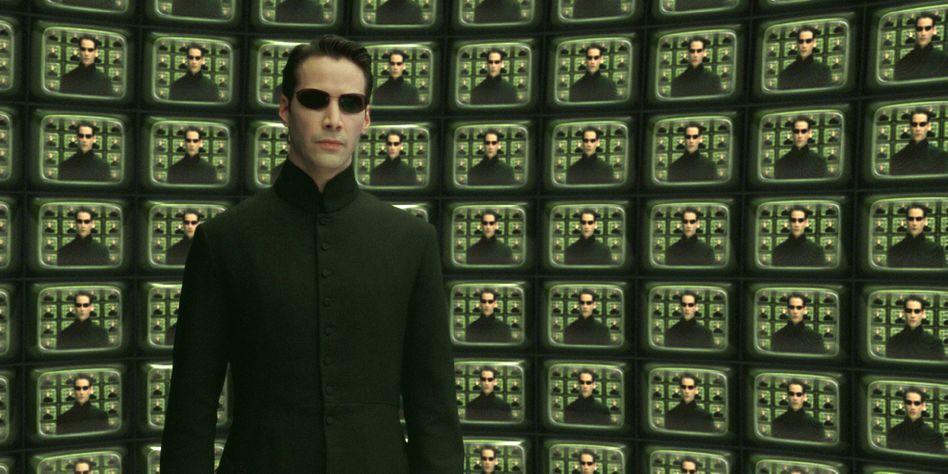 """Keanu Reeves in """"Matrix Reloaded"""", dem zweiten Film der Reihe"""