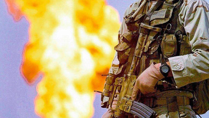 Brennende Ölquelle im Irak 2003: »Wie im Wilden Westen«