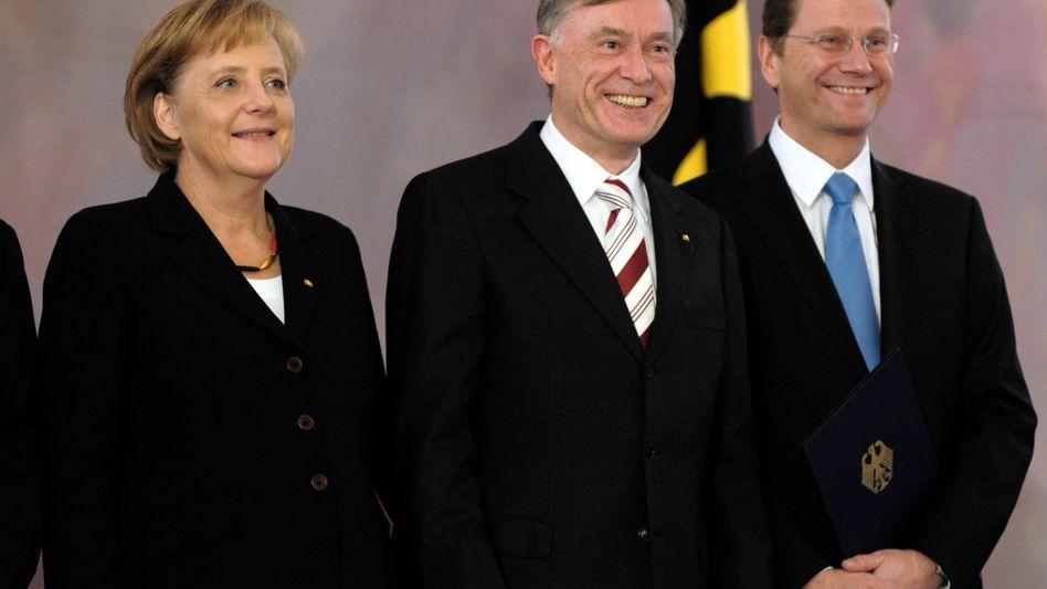 """Merkel, Köhler, Westerwelle: """"Unser Land schaut auf Sie"""""""
