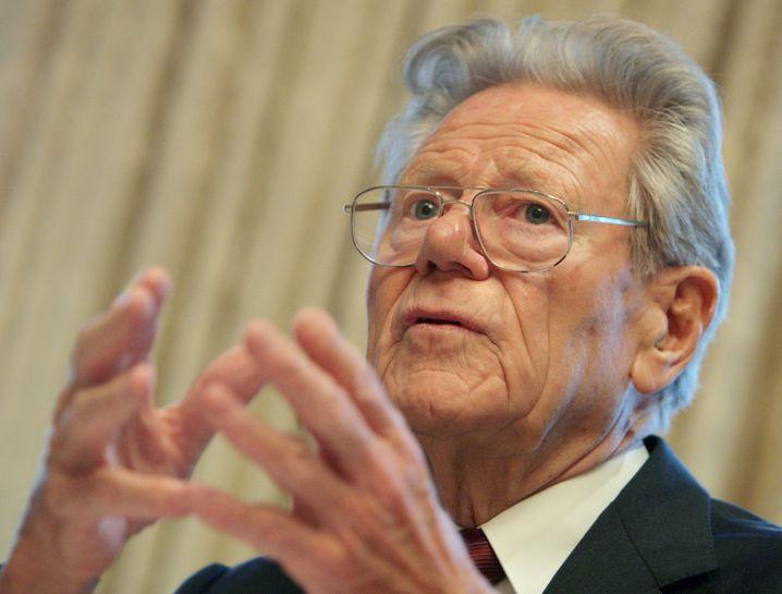 Hans Küng, Theologe, Papst-Kritiker, Präsident der Stiftung Weltethos