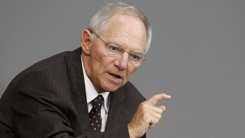 """Finanzminister Schäuble: """"Wir sind in einer außergewöhnlich schwierigen Lage"""""""